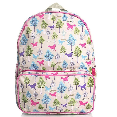 Milly Green Ponies Canvas Backpack