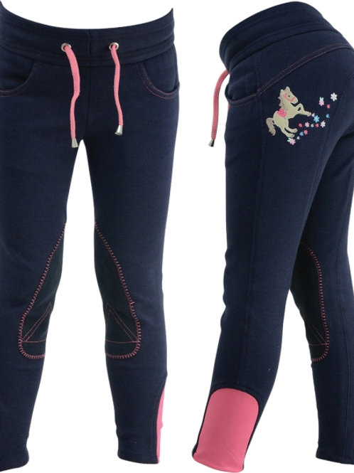Felicity Flower Pull on Jodhpurs by Little Rider