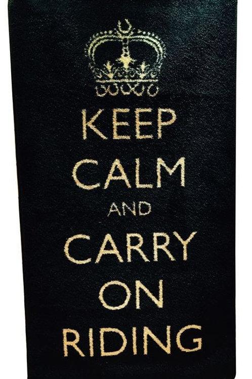 KEEP CALM & CARRY ON RIDING RUG