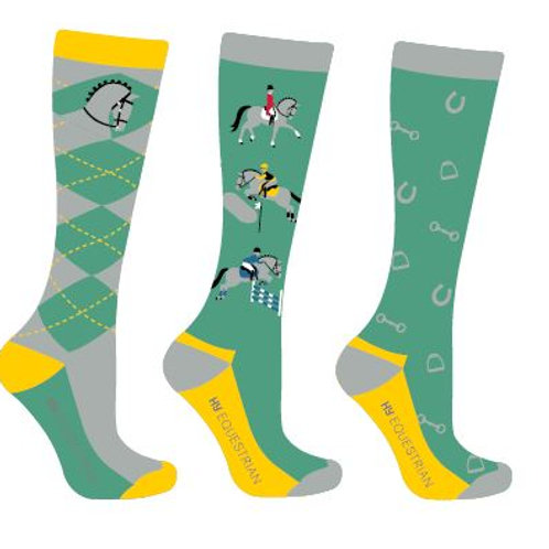 Hy Equestrian Competition Ready Socks (Pack of 3)