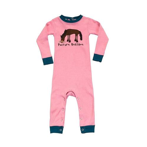 LazyOne Girls Pasture Bedtime Infant Sleepsuit