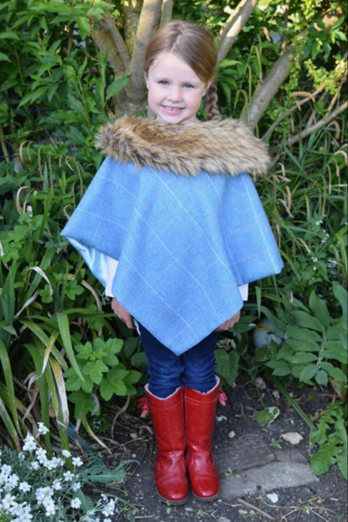 George & Dotty Jessica Junior Tweed Cape