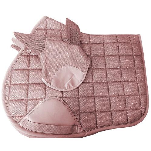 Elano Glitter Sparkle 3D Mesh Saddle pad & Veil Set