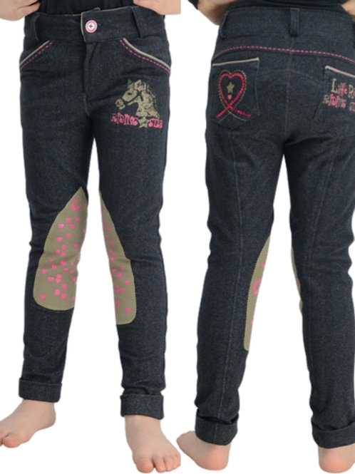 Riding Star Denim Jodhpurs by Little Rider