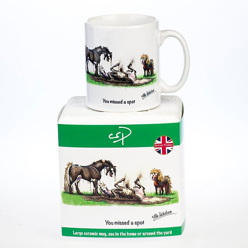 """""""You missed a spot"""" Horse Riding Mug by Alex Underdown"""