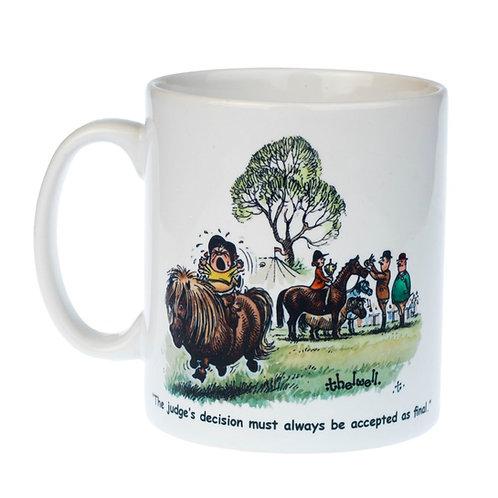 "Thelwell horse and pony mug. ""Judges decision"""