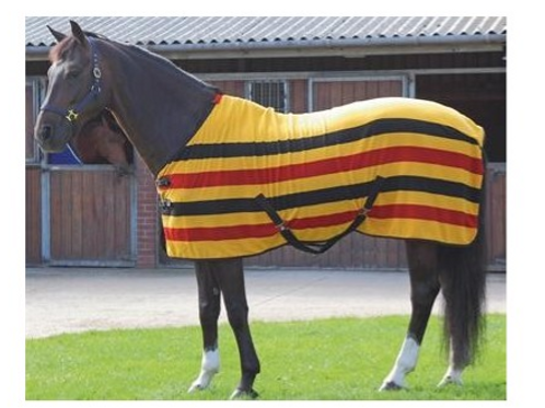 Traditional Newmarket Stripe Fleece Rug
