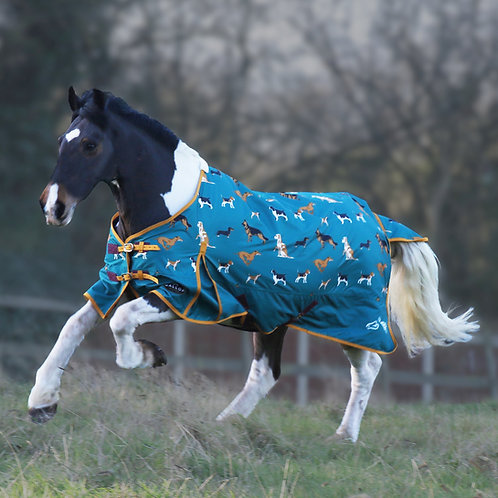 Who Let The Dogs Out Print 100g Turnout Rug