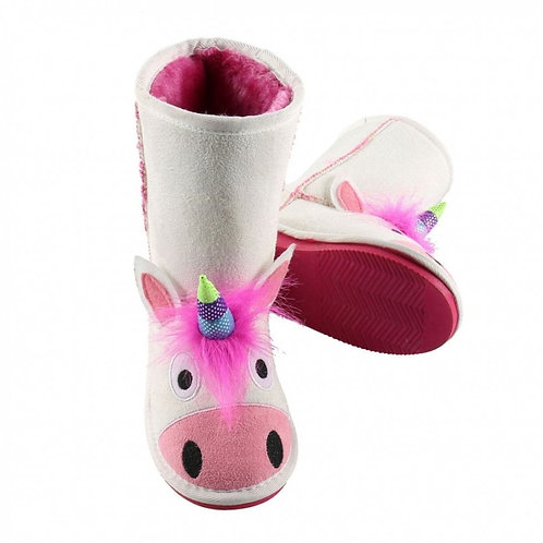 LazyOne Girls Unicorn Toasty Toez Slippers