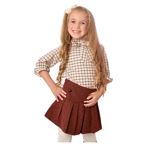 The Clarence - Tattersall Check Girls Blouse