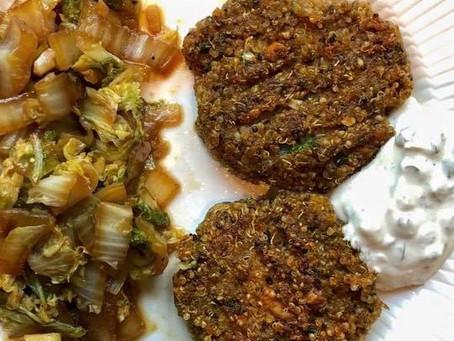 Croquettes de quinoa et sauce tartare vegan
