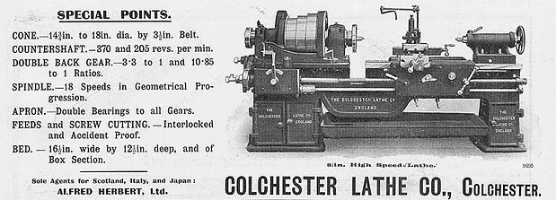 Colchester Lathe Spares