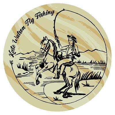 Kate Watson Fly Fishing Sticker