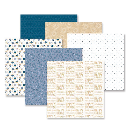 Party Time!  Blue Paper Pack (12/pk)