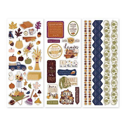 It's Fall Y'all Stickers  (3/pk)