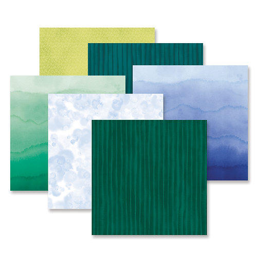 Emerald Gemstone Tone on Tone  Paper Pack (12/pk)