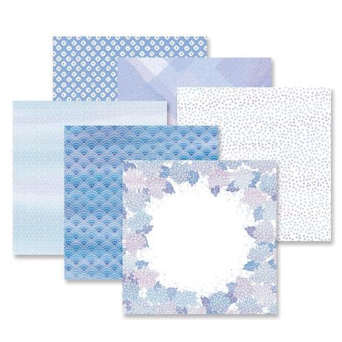 Botanical Burst Blue Paper Pack (12/pk)