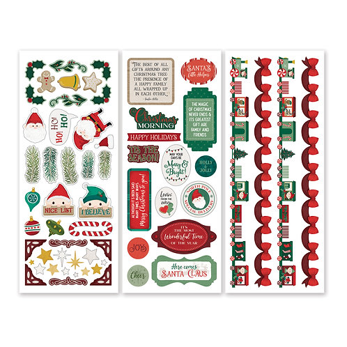 Christmas Spirit Stickers (3/pk)