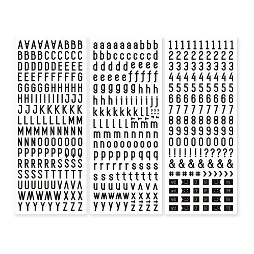 Black  Sans Serif  ABC/123 Stickers (3/pk)