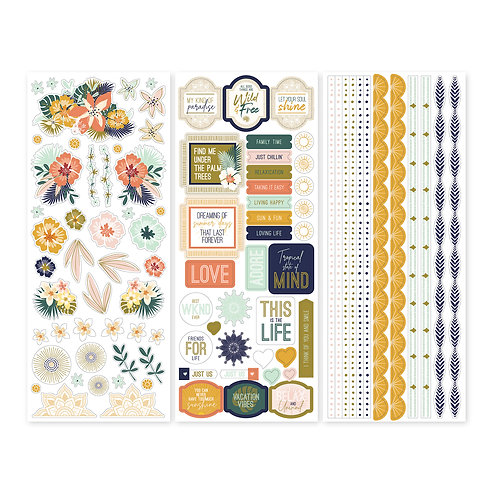 Boho Escape Stickers (3/pk)