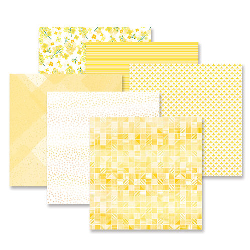 Botanical Burst Yellow Paper Pack (12/pk)