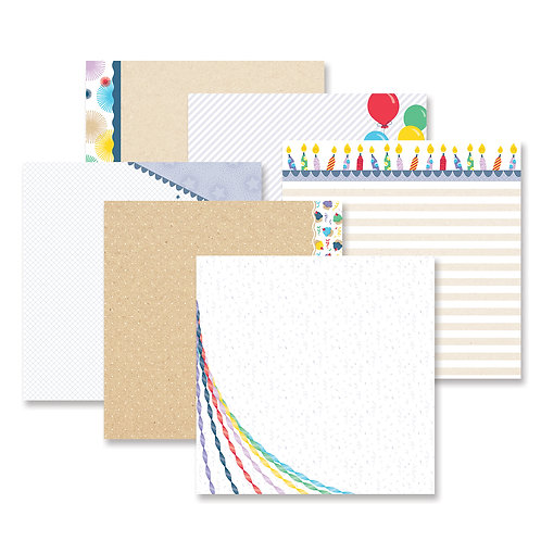 Party Time! Fast2Fab™ -Inspired Designer Paper Pack (12/pk)