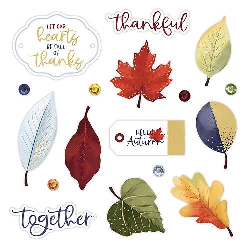 Hello, Autumn Foiled Embellishments