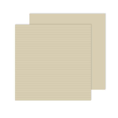 12X12 Natural Lined Designer  Paper Pack (12/pk)