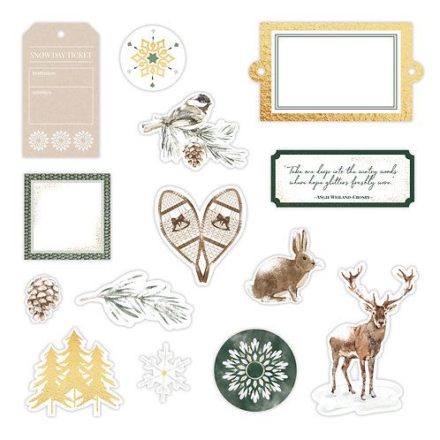 Winter Woods  Foiled Embellishments