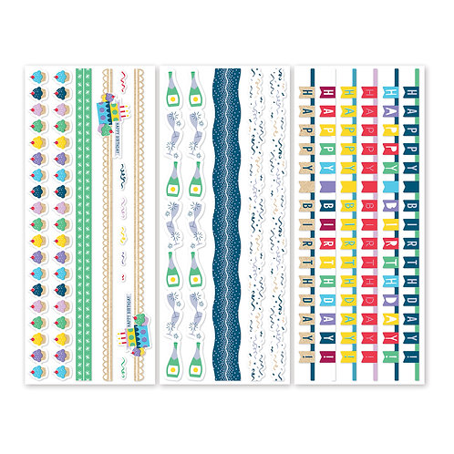 Party Time! Border Stickers (3/pk)