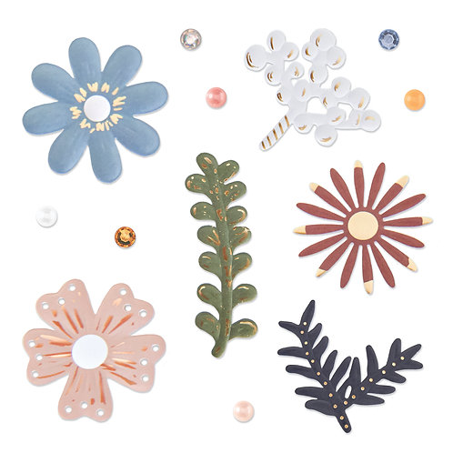 All My Love Foiled Flower Embellishments