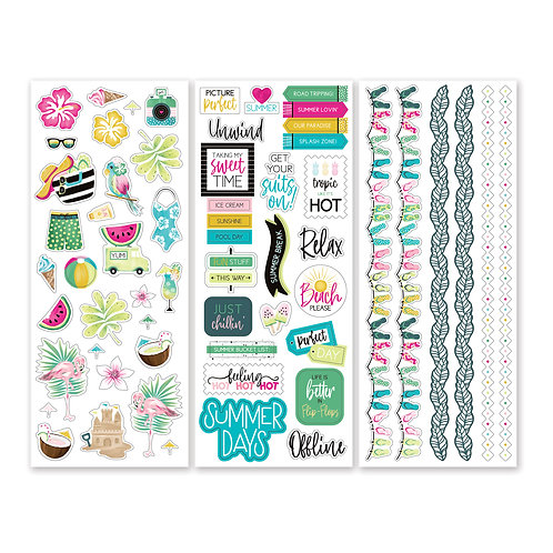 Summertime Stickers  (3/pk)