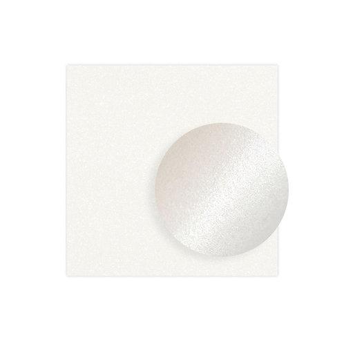 12x12 White Shimmer Solid Cardstock (10/pk)