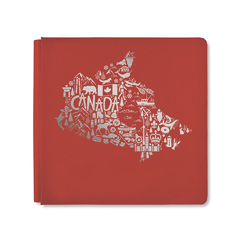12X12 Antique Red Iconically Canadian Album Cover