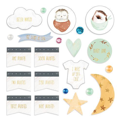 Little Dreamer Foiled Embellishments
