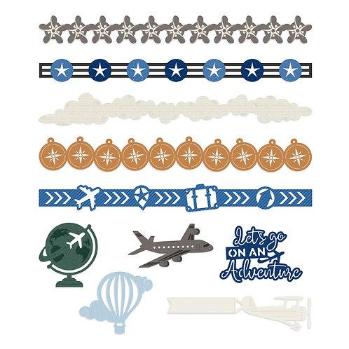 Planes Laser Cut Embellishments