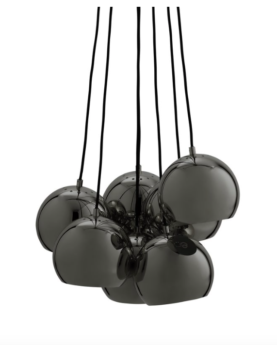 black ball chandelier