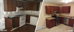 Kitchen Flood Before&After
