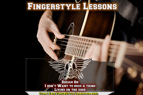 Aerosmith's 3 song acoustic guitar lessons