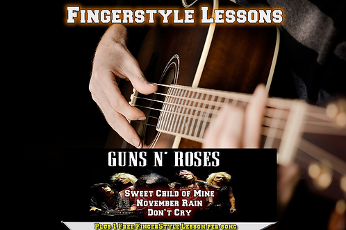 Guns and Roses Acoustic three song Instructional lessons