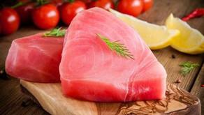 Tuna Steaks With a Cucumber Dill Salsa