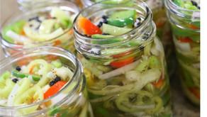 Sweet Pickled Garden Veggies