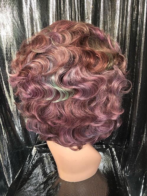 multi coloured brunette