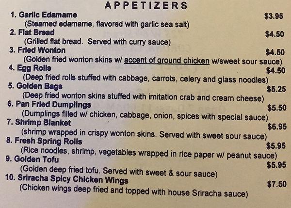 Appetizer Menu Thai Tuk Tuk Corona Ca