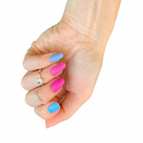 Blue & Pink mixed
