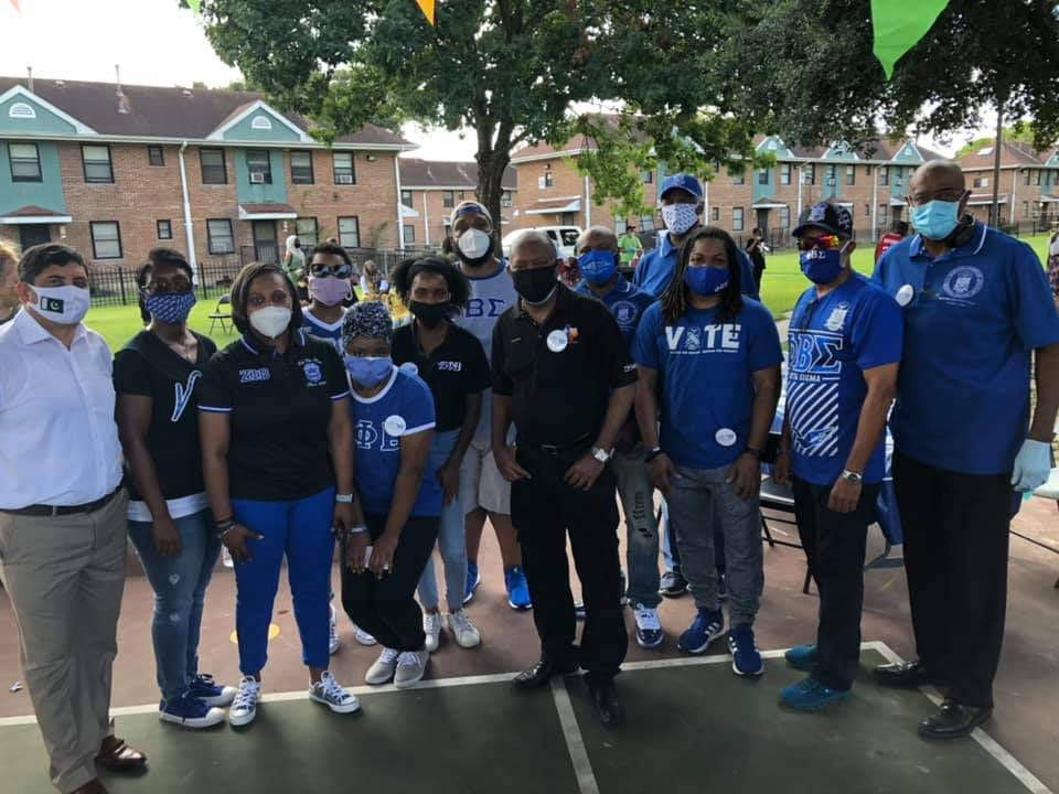 Sigmas of Houston with Houston Mayor