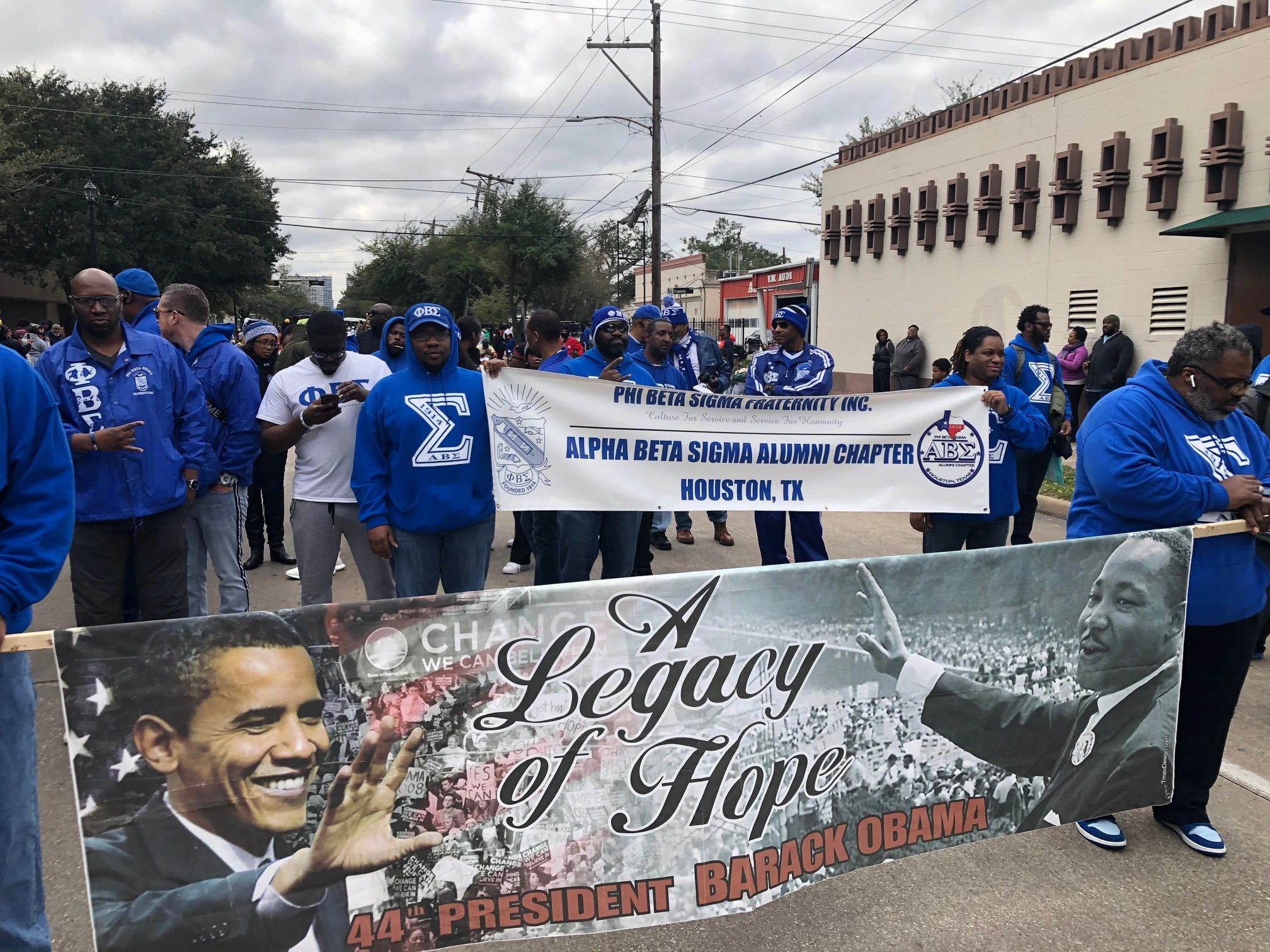 Sigmas of Houston at MLK March