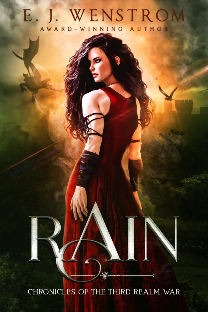 (Book cover for Rain, by E.J. Wenstrom - ejwenstrom.com)