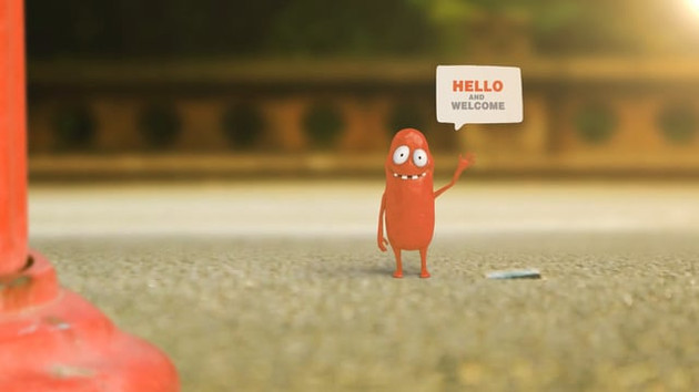 Video animacja Let's GO hello and welcome