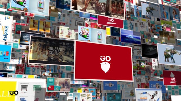 2017 - Let's Go Media - graphic design portfolio showreel